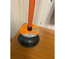 """51270-2 Вантуз для удаления засоров """"Классик"""" 15,2 см , пластиковая ручка 53,3 см"""