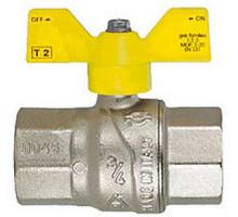 Кран газовый ф 25 г/г баб. Itap