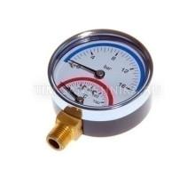 Термоманометр 16бар 120 С радиальный Tim